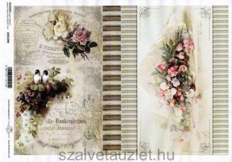 Decoupage papír D0519M