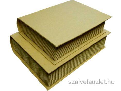 Papír könyvdoboz szett natúr f0119