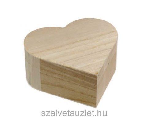 Fa doboz szív alakú f0203