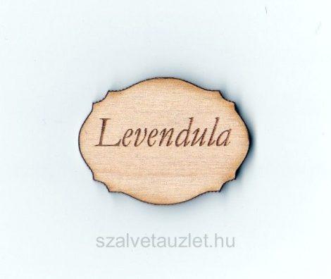Fa Levendula táblácska 4*3 cm f1677