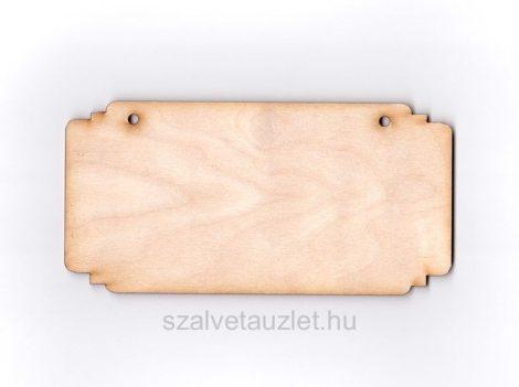Fa téglalap tábla 8*16 cm f1712