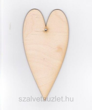 Fa hosszú szív 10*20 cm f1828