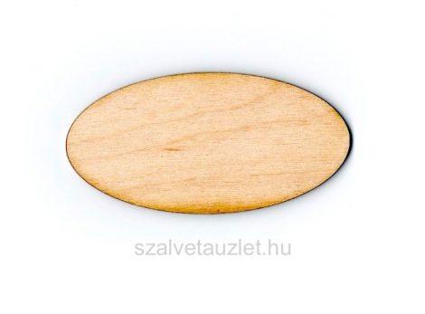 Fa ovális tábla f1831