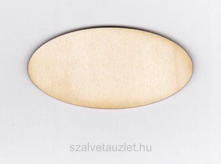 Fa ovális tábla 4*8 cm f1832