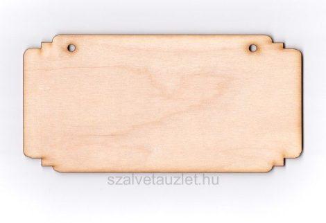 Fa téglalap tábla 10*20 cm f1835