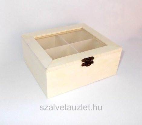 Fa tea filter tartó átlátszó tetővel f5172