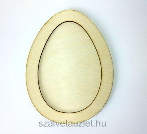 Fa keretes tojás f6416