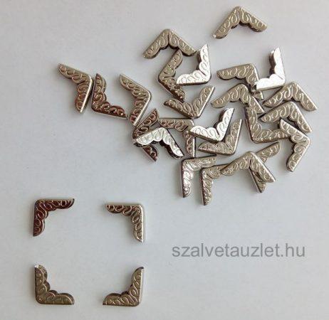 Fém sarok Ezüst színű 1,6 cm-es lapos f6953