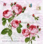 Szalvéta i0696  Romantic roses