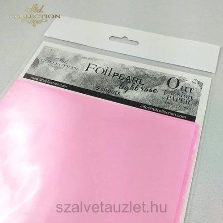 Transfer Fólia Halvány Rózsa p0015