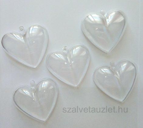 Műanyag szív 6cm p7651