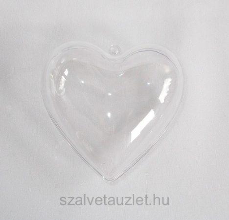 Műanyag szív 8cm p7652