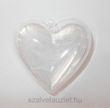 Műanyag szív 10cm p7653
