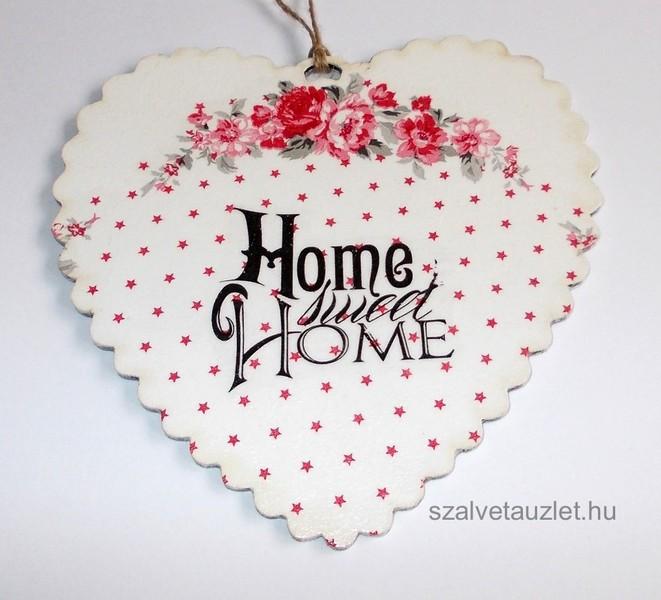 Shaby Sweet Home szív függő